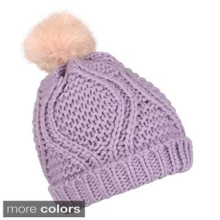 Journee Collection Women's Cuffed Cable Knit Beanie