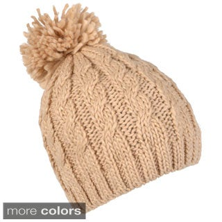Journee Collection Women's Shimmering Cable Knit Beanie