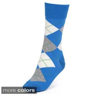 Vance Co. Men's Colorful Argyle Cotton Blend Dress Socks