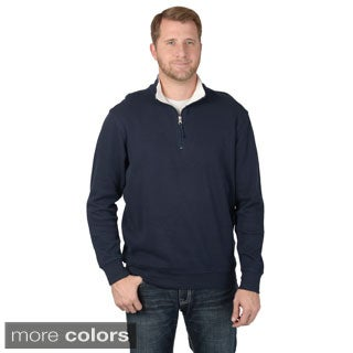 Vance Co. Men's Rib-knit High Collar Casual Sweater