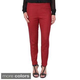 Journee Collection Women's Cigarette Pants with Side Zipper