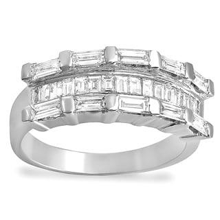 14k White Gold Baguette 1ct TDW Diamond Anniversary Wedding Band (H-I, I1-I2)