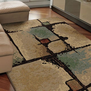 "Euphoria Collection Jacci Beige Olefin Area Rug (7'10"" x 10'10"")"