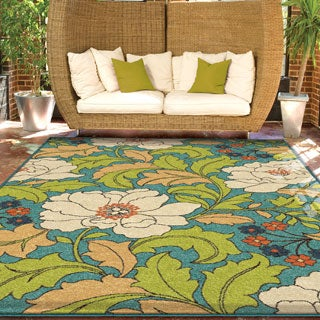 "Indoor/ Outdoor Promise Collection Tace Multi Olefin Indoor/Outdoor Area Rug (5'2"" x 7'6"")"