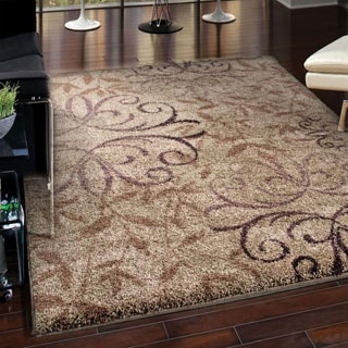 Euphoria Collection Dakota Taupe Olefin Area Rug (5'3 x 7'6)