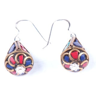 Elegant Teardrop Earrings (Nepal)