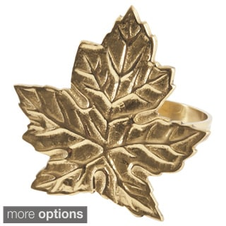 Maple Leaf Design Napkin Ring (Set of 4)