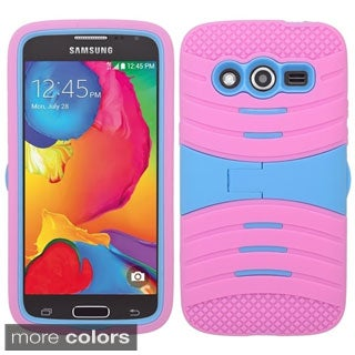 INSTEN Wave Symbiosis Dual Layer Hybrid Stand Rubber Silicone/ PC Phone Case Cover For Samsung Galaxy Avant