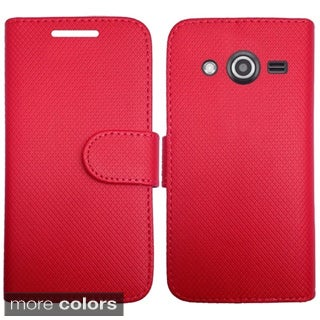 INSTEN Leather Folio Book-Style Flip Phone Case Cover For Samsung Galaxy Avant