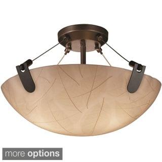 Justice Design 3Form U Clips 3-light Round Semi-flush Mount