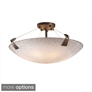 Justice Design 3Form Tapered Clips 6-light Round Semi-flush Mount