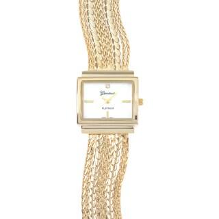 Geneva Platinum Rhinestone Fashion Chain Watch