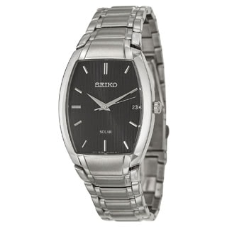 Seiko Men's SNE333 Stainless Steel Solar Watch