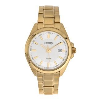 Seiko SUR064 Men's Gold Date Dress Watch