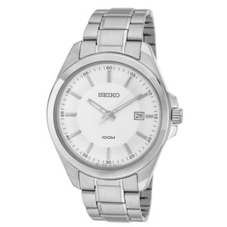 Seiko SUR067 Men's 100M Silver Bracelet Dress Watch