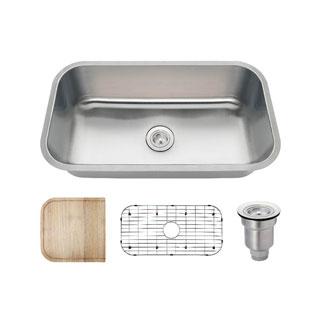 MR Direct 3218C Kitchen Ensemble Stainless Steel Single Bowl Sink