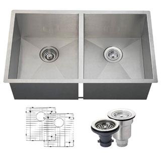 MR Direct 3322D Kitchen Ensemble Stainless Steel 90 Degree Sink