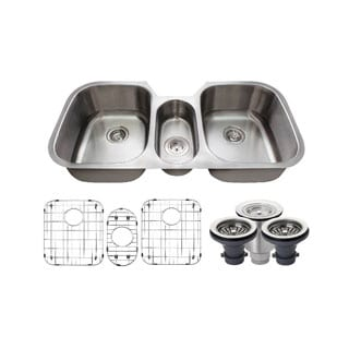 MR Direct 4521 Kitchen Ensemble Stainless Steel Triple Bowl Sink
