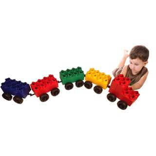 Jumbo Blocks with Wheels 46-piece Train Set