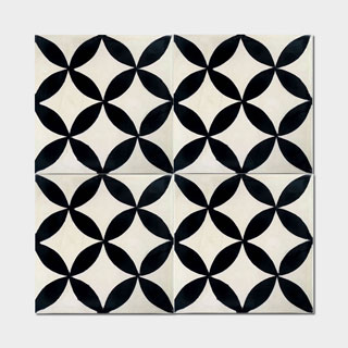 Pack of 12 Amlo Circle Handmade Cement and Granite 8-inch x 8-inch Floor and Wall Tile (Morocco)