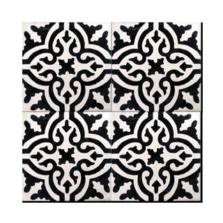Pack of 12 Argana Mozona Handmade Cement and Granite 8-inch x 8-inch Floor and Wall Tile (Morocco)