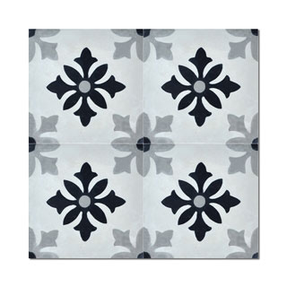 Pack of 12 Azrou Grey Handmade Cement and Granite 8-inch x 8-inch Floor and Wall Tile (Morocco)