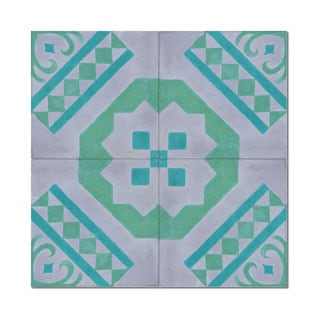 Pack of 12 Bouman Handmade Cement and Granite 8-inch x 8-inch Floor and Wall Tile (Morocco)