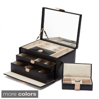 WOLF Chloe Medium Leather Jewelry Box