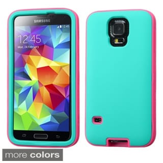 INSTEN Verge Dual Layer Hybrid Rubberized Hard PC Silicone Phone Case Cover For Samsung Galaxy S5 SM-G900