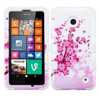 INSTEN Tuff Dual Layer Hybrid Basketball Rubberized Hard PC Silicone Phone Case Cover For Nokia Lumia 630/ 635
