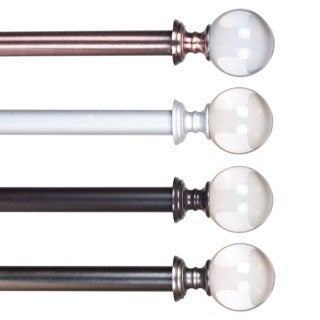 Lavish Home Crystal Ball Curtain Rod