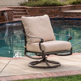 Christopher Knight Home Hemingway Outdoor Swivel Chair