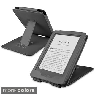 INSTEN Premium Plain Color Folio Flip Tablet Leather Case Cover With Stand For Amazon Kindle 6 2014 Version