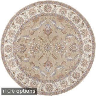Hand-tufted Reid Traditional Wool Rug (8' Round)