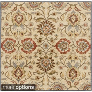 Hand-tufted Noah Traditional Wool Rug (4' Square)