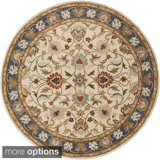 Hand-tufted Nia Traditional Wool Rug (6' Round)