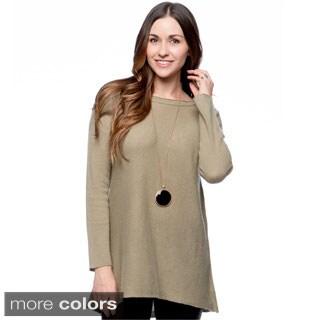 Premise Women's Cashmere A-Line Tunic Pullover