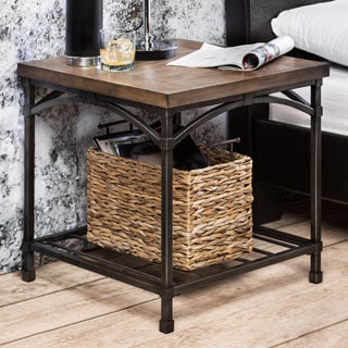 Furniture of America Perri Natural Industrial End Table