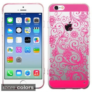 INSTEN Premium Four-leaf Clover Plain Color TPU Rubber Candy Skin Phone Case Cover For Apple iPhone 6