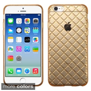 INSTEN T-Clear Checker Pattern TPU Rubber Candy Skin Style Phone Case Cover For Apple iPhone 6