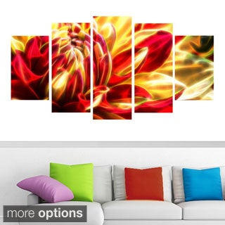 Abstract Blossoming Water Lily Canvas (Multiple Sizes)