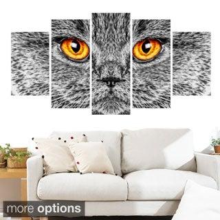 Grey Cat Animal Art Canvas (Multiple Sizes)