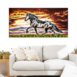 Abstract Horse Animal Art Canvas (Multiple Sizes)