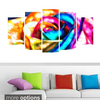 Colorful Rose Animal Art Canvas (Multiple Sizes)