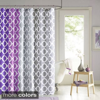 90° by Design Lab Rayna Shower Curtain and Hook Set