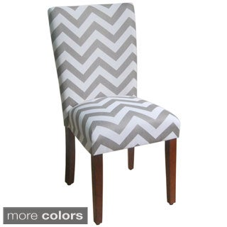 Parson Grey/ White Chevron Dining Chair (Set of 2)