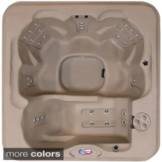 American Spas 6-person 30-jet Lounger Spa with Easy Plug-N-Play and Two Port LED Waterfalls