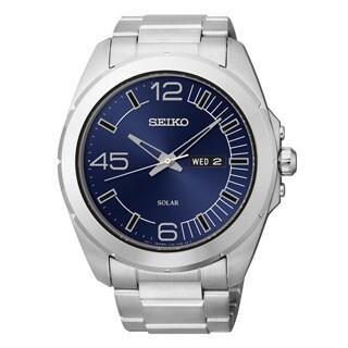 Seiko Men's 'Core' Stainless Steel Solar Powered Quartz Watch