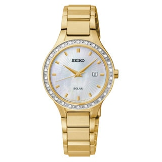 Seiko Women's 'Core' Stainless Steel Yellow Goldtone Watch