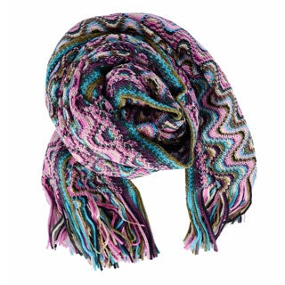 Missoni Pink/ Multicolor Squiggly Pattern Scarf